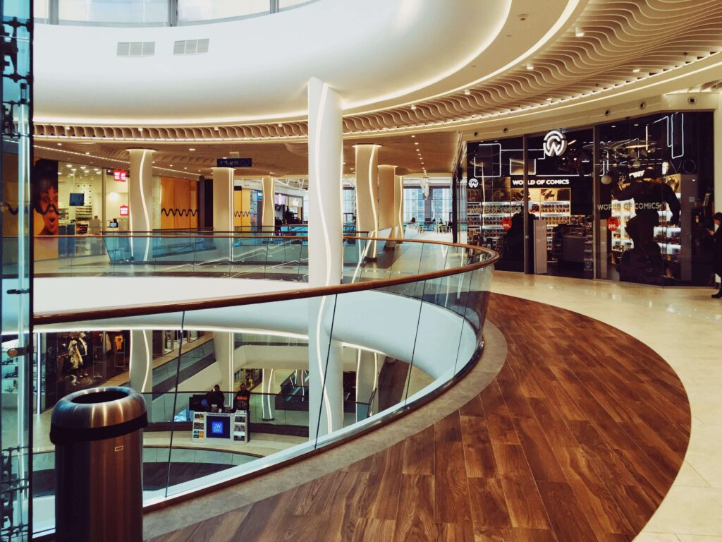 Flooring for malls and shopping centers